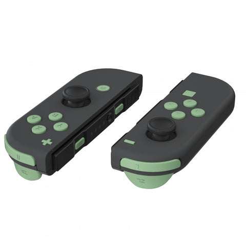Soft Touch Matcha Green Replacement ABXY Direction Keys SR SL L R ZR ZL Trigger Buttons Springs, Full Set Buttons Repair Kits with Tools for Nintendo Switch Joy-Con JoyCon Shell NOT Included - AJ222