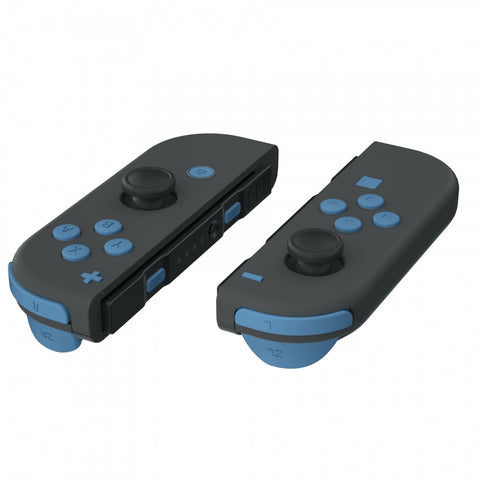 Soft Touch Airforce Blue Replacement ABXY Direction Keys SR SL L R ZR ZL Trigger Buttons Springs, Full Set Buttons Repair Kits with Tools for Nintendo Switch Joy-Con JoyCon Shell NOT Included - AJ224