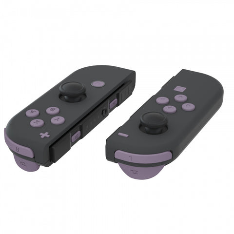 Dark Grayish Violet Soft Touch Replacement ABXY Direction Keys SR SL L R ZR ZL Trigger Buttons Springs, Full Set Buttons Repair Kits with Tools for Nintendo Switch Joy-Con JoyCon Shell NOT Included - AJ227