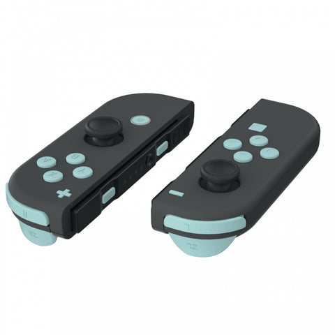 Light Cyan Replacement ABXY Direction Keys SR SL L R ZR ZL Trigger Buttons Springs, Full Set Buttons Repair Kits with Tools for Nintendo Switch Joy-Con JoyCon Shell NOT Included - AJ228