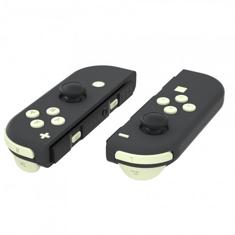 Light Cream Soft Touch Replacement ABXY Direction Keys SR SL L R ZR ZL Trigger Buttons Springs, Full Set Buttons Repair Kits with Tools for Nintendo Switch Joy-Con JoyCon Shell NOT Included - AJ230