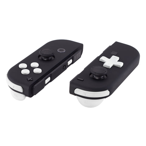 Soft Touch White D-pad ABXY Keys SR SL L R ZR ZL Trigger Buttons Springs, Replacement Full Set Buttons Fix Kits for Nintendo Switch Joycon (D-pad ONLY Fits for eXtremeRate Joycon D-pad Shell) - BZP303