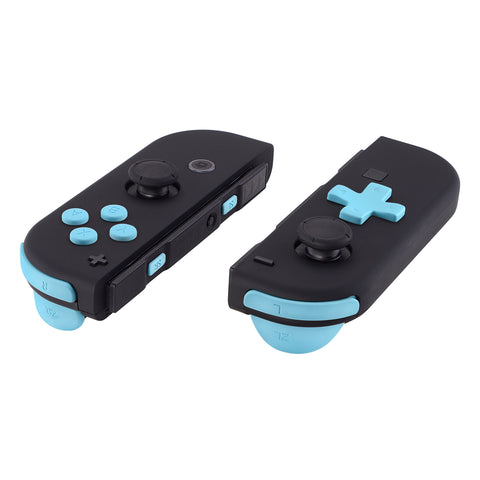 Soft Touch Heaven Blue D-pad ABXY Keys SR SL L R ZR ZL Trigger Buttons Springs, Replacement Full Set Buttons Fix Kits for Nintendo Switch Joycon (D-pad ONLY Fits for eXtremeRate Joycon D-pad Shell) - BZP307