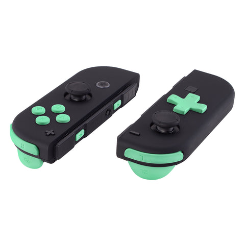 Soft Touch Mint Green D-pad ABXY Keys SR SL L R ZR ZL Trigger Buttons Springs, Replacement Full Set Buttons Fix Kits for Nintendo Switch Joycon (D-pad ONLY Fits for eXtremeRate Joycon D-pad Shell) - BZP308