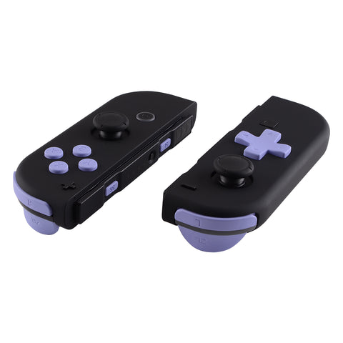 Soft Touch Light Violet D-pad ABXY Keys SR SL L R ZR ZL Trigger Buttons Springs, Replacement Full Set Buttons Fix Kits for Nintendo Switch Joycon (D-pad ONLY Fits for eXtremeRate Joycon D-pad Shell) - BZP309