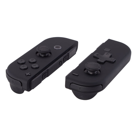 Soft Touch Black D-pad ABXY Keys SR SL L R ZR ZL Trigger Buttons Springs, Replacement Full Set Buttons Fix Kits for Nintendo Switch Joycon (D-pad ONLY Fits for eXtremeRate Joycon D-pad Shell) - BZP310