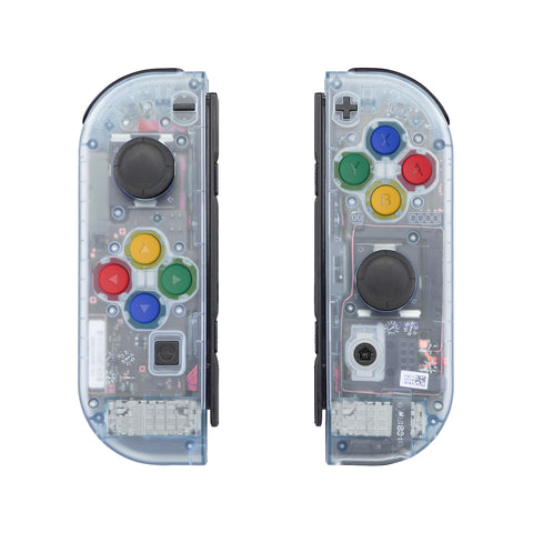 Glacier Blue Joycon Handheld Controller Housing with Full Set Buttons, DIY Replacement Shell Case for Nintendo Switch Joy-Con-Joycon and Console NOT Included - CM506