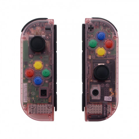 Cherry Pink Joycon Handheld Controller Housing with Full Set Buttons, DIY Replacement Shell Case for Nintendo Switch Joy-Con-Joycon and Console NOT Included - CM507