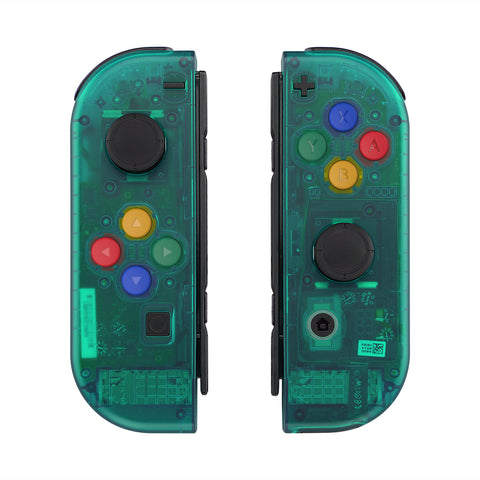 Emerald Green Joycon Handheld Controller Housing with Full Set Buttons, DIY Replacement Shell Case for Nintendo Switch JoyCon- Joycon and Console NOT Included - CM508
