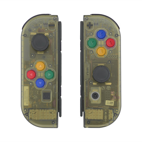Amber Yellow Joycon Handheld Controller Housing with Full Set Buttons, DIY Replacement Shell Case for Nintendo Switch Joy-Con-Joycon and Console NOT Included - CM509