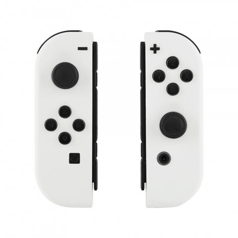 Soft Touch Grip White Handheld Controller Housing With Full Set Buttons DIY Replacement Shell Case for Nintendo Switch Joy-Con - Console Shell NOT Included - CP303