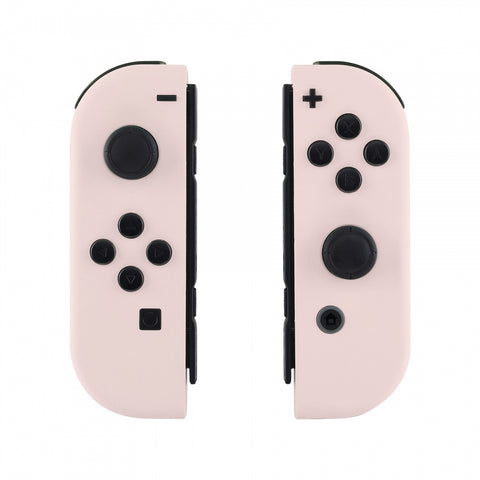Soft Touch Grip Sakura Pink Handheld Controller Housing With Full Set Buttons DIY Replacement Shell Case for Nintendo Switch Joy-Con - Console Shell NOT Included - CP306