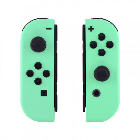 Soft Touch Grip Mint Green Handheld Controller Housing With Full Set Buttons DIY Replacement Shell Case for Nintendo Switch Joy-Con - Console Shell NOT Included - CP308