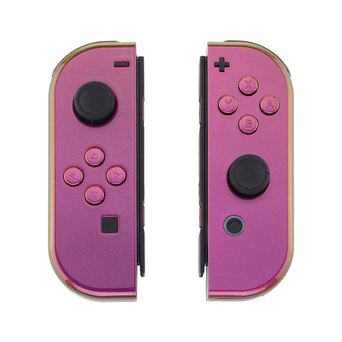 Chameleon Purple Yellow Green Joycon Handheld Controller Housing with Full Set Buttons, DIY Replacement Shell Case for Nintendo Switch Joy-Con ¨C Console Shell NOT Included - CP312