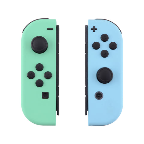 Soft Touch Grip Mint Green & Heaven Blue Housing with Full Set Buttons, DIY Replacement Shell Case for Nintendo Switch Joy-Con ¡§C Console Shell NOT Included - CP317