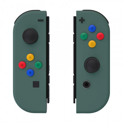 Soft Touch Grip Pine Green Joycon Handheld Controller Housing with ABXY Direction Buttons, DIY Replacement Shell Case for Nintendo Switch Joy-Con ¨C Console Shell NOT Included - CP318