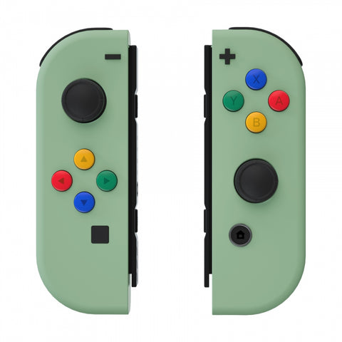 Soft Touch Grip Matcha Green Joycon Handheld Controller Housing with ABXY Direction Buttons, DIY Replacement Shell Case for Nintendo Switch Joy-Con ¨C Console Shell NOT Included - CP322