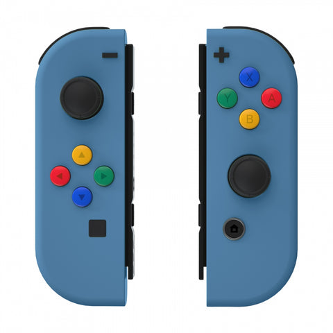 Soft Touch Grip Airforce Blue Joycon Handheld Controller Housing with ABXY Direction Buttons, DIY Replacement Shell Case for Nintendo Switch Joy-Con ¨C Console Shell NOT Included - CP324