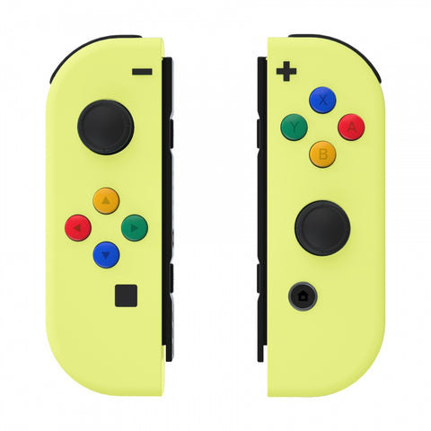Soft Touch Grip Lemon Yellow Joycon Handheld Controller Housing with ABXY Direction Buttons, DIY Replacement Shell Case for Nintendo Switch Joy-Con ¨C Console Shell NOT Included - CP325