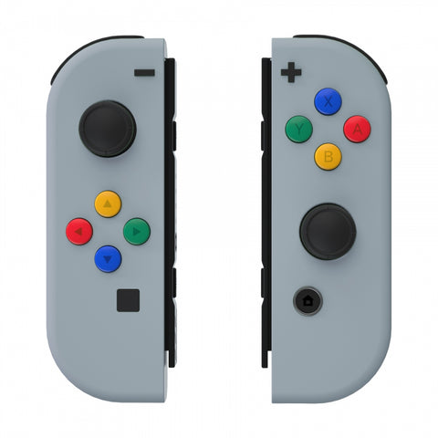 Soft Touch Grip New Hope Gray Joycon Handheld Controller Housing with ABXY Direction Buttons, DIY Replacement Shell Case for Nintendo Switch Joy-Con ¨C Console Shell NOT Included - CP326