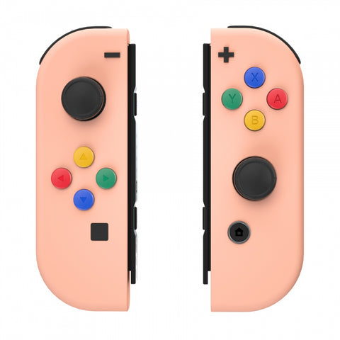 Mandys Pink Soft Touch Grip Joycon Handheld Controller Housing with ABXY Direction Buttons, DIY Replacement Shell Case for Nintendo Switch Joy-Con – Console Shell NOT Included - CP329