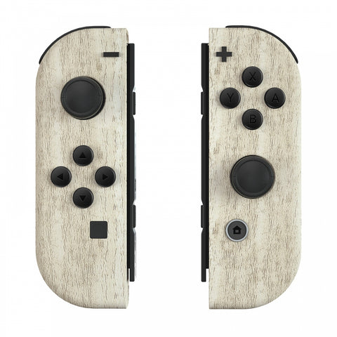Pine Wood Grain Joycon Handheld Controller Housing with Buttons, DIY Replacement Shell Case for Nintendo Switch Joy-Con – Joycon and Console NOT Included - CS208