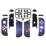 Soft Touch Grip Nubula Galaxy Patterned Joycon Handheld Controller Housing with Coloful Buttons, DIY Replacement Shell Case for Nintendo Switch Joy-Con – Joycon and Console NOT Included - CT110