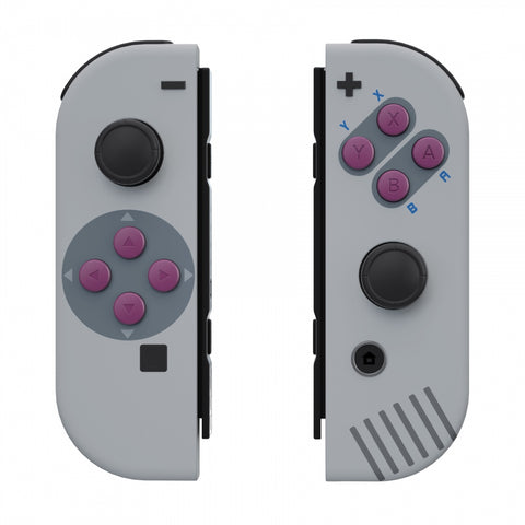 Soft Touch Grip Classic 1989 GB DMG-01 Style Joycon Handheld Controller Housing with Buttons, DIY Replacement Shell Case for Nintendo Switch Joy-Con – Joycon and Console NOT Included - CT117