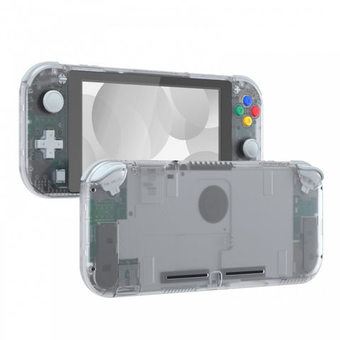 Transparent Clear DIY Replacement Shell for Nintendo Switch Lite, NSL Handheld Controller Housing w/ Screen Protector, Custom Case Cover for Nintendo Switch Lite - DLM501