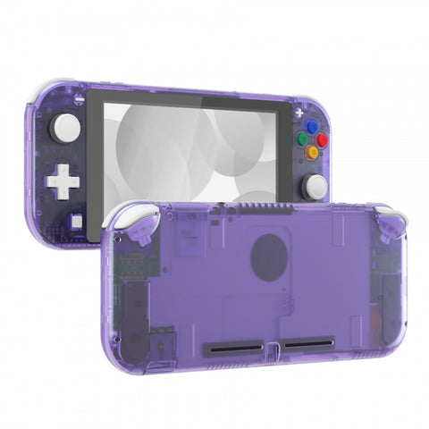 Clear Atomic Purple DIY Replacement Shell for Nintendo Switch Lite, NSL Handheld Controller Housing w/ Screen Protector, Custom Case Cover for Nintendo Switch Lite - DLM505