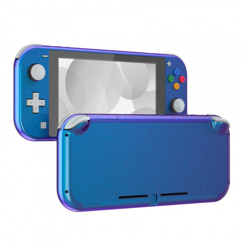Chameleon Purple Blue Glossy DIY Replacement Shell for Nintendo Switch Lite, NSL Handheld Controller Housing w/ Screen Protector, Custom Case Cover for Nintendo Switch Lite - DLP301