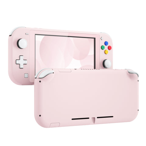 Soft Touch Sakura Pink DIY Replacement Shell for Nintendo Switch Lite, NSL Handheld Controller Housing w/ Screen Protector, Custom Case Cover for Nintendo Switch Lite - DLP306