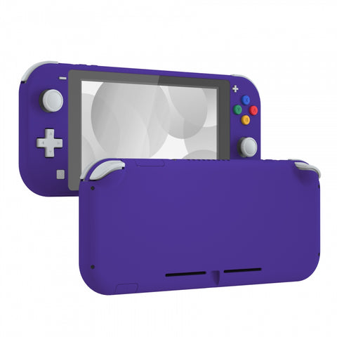 Purple DIY Replacement Shell for Nintendo Switch Lite, NSL Handheld Controller Housing w/ Screen Protector, Custom Case Cover for Nintendo Switch Lite - DLP307