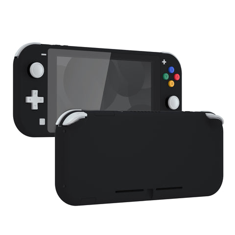 Soft Touch Black DIY Replacement Shell for Nintendo Switch Lite, NSL Handheld Controller Housing w/ Screen Protector, Custom Case Cover for Nintendo Switch Lite - DLP309