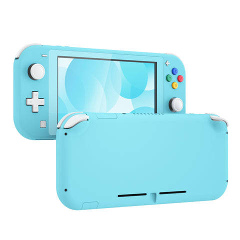 Soft Touch Blue DIY Replacement Shell for Nintendo Switch Lite, NSL Handheld Controller Housing w/ Screen Protector, Custom Case Cover for Nintendo Switch Lite - DLP313