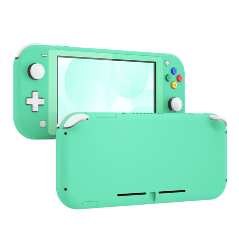 Soft Touch Green DIY Replacement Shell for Nintendo Switch Lite, NSL Handheld Controller Housing w/ Screen Protector, Custom Case Cover for Nintendo Switch Lite - DLP314