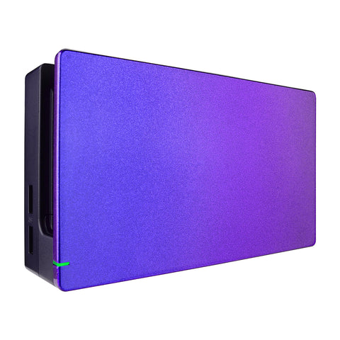 Custom Chameleon Glossy Faceplate for Nintendo Switch Dock, Purple Blue DIY Replacement Housing Shell for Nintendo Switch Dock - Dock NOT Included - FDP301