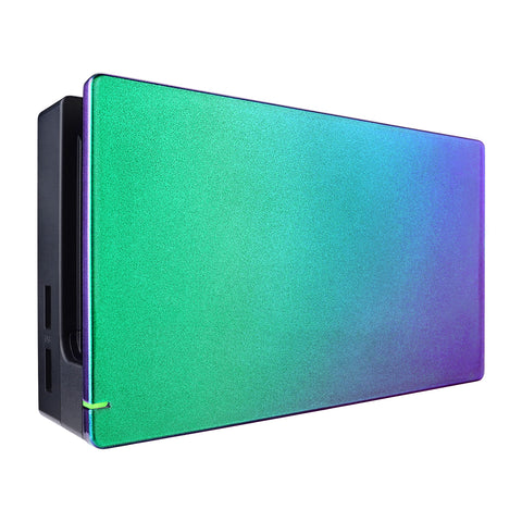 Custom Chameleon Glossy Faceplate for Nintendo Switch Dock, Green Purple DIY Replacement Housing Shell for Nintendo Switch Dock - Dock NOT Included - FDP302