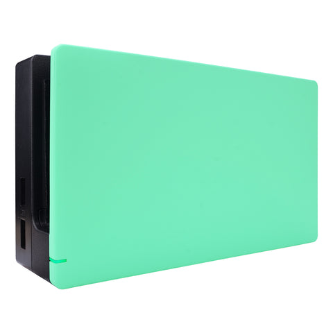 Mint Green Custom Faceplate for Nintendo Switch Charging Dock, Soft Touch Grip DIY Replacement Housing Shell for Nintendo Switch Dock - Dock NOT Included - FDP308