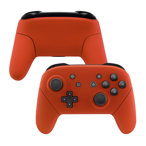 Orange Faceplate Backplate Handles for Nintendo Switch Pro Controller, Soft Touch DIY Replacement Grip Housing Shell Cover for Nintendo Switch Pro - Controller NOT Included - FRP303