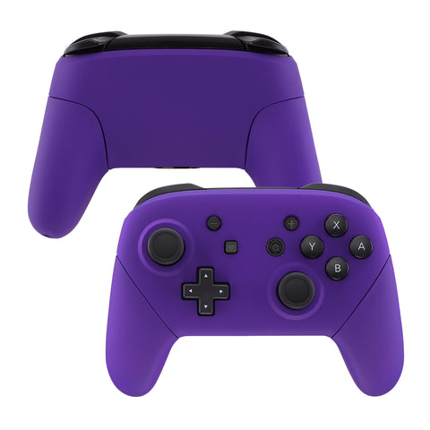 Purple Faceplate Backplate Handles for Nintendo Switch Pro Controller, Soft Touch DIY Replacement Grip Housing Shell Cover for Nintendo Switch Pro - Controller NOT Included - FRP305