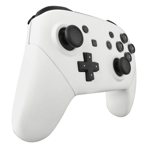White Faceplate Backplate Handles for Nintendo Switch Pro Controller, Soft  Touch DIY Replacement Grip Housing Shell Cover for Nintendo Switch Pro -