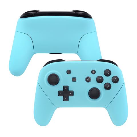Heaven Blue Faceplate Backplate Handles for Nintendo Switch Pro Controller, Soft Touch DIY Replacement Grip Housing Shell Cover for Nintendo Switch Pro - Controller NOT Included - FRP308