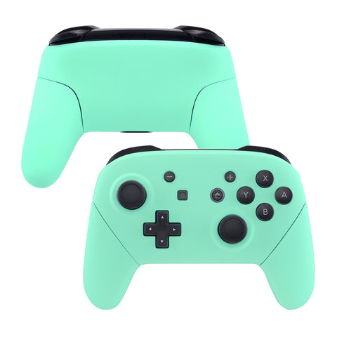 Mint Green Faceplate Backplate Handles for Nintendo Switch Pro Controller, Soft Touch DIY Replacement Grip Housing Shell Cover for Nintendo Switch Pro - Controller NOT Included - FRP309