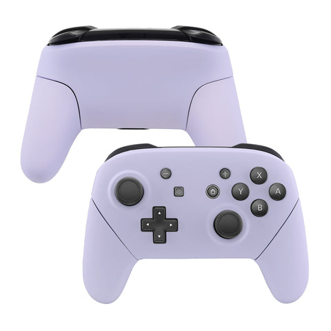 Light Violet Faceplate Backplate Handles for Nintendo Switch Pro Controller, Soft Touch DIY Replacement Grip Housing Shell Cover for Nintendo Switch Pro - Controller NOT Included - FRP310