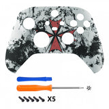 Biohazard Replacement Part Faceplate, Soft Touch Grip Housing Shell Case for Xbox Series S & Xbox Series X Controller Accessories - Controller NOT Included - FX3T119