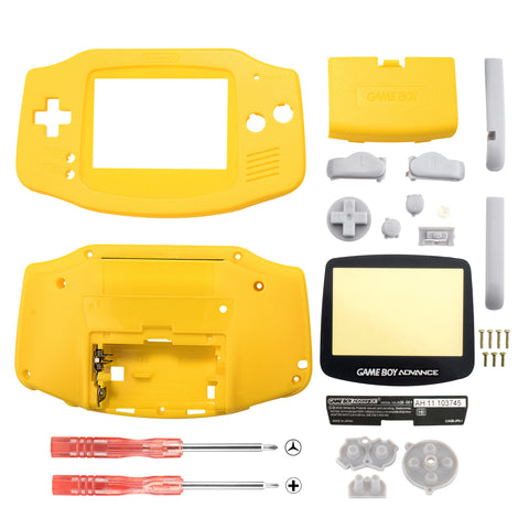 Lemon Yellow Full Housing Shell Buttons with Screen Len for Nintendo Game Boy Advance - GBA0009GC