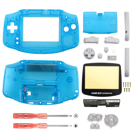 ull Housing Shell + Screen Len for Nintendo Gameboy Advance GBA Neon Blue Color - GBA0012GC