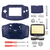 Blue Solid Full Housing Shell Buttons with Screen Len for Nintendo Game Boy Advance - GBA002