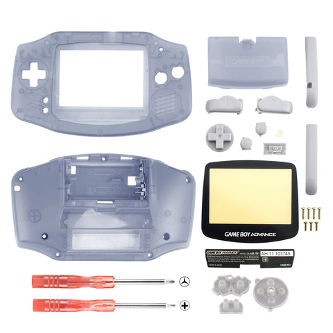 Transparent Full Housing Shell Buttons with Screen Len for Nintendo Game Boy Advance - GBA003